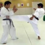 三日月蹴り(三角蹴り)はレバーを確実に!組手で威力を発揮します!